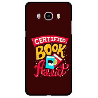 Snooky Printed Reads Books Mobile Back Cover For Samsung Galaxy J5 (2017) - Brown