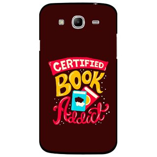 Snooky Printed Reads Books Mobile Back Cover For Samsung Galaxy Mega 5.8 - Brown