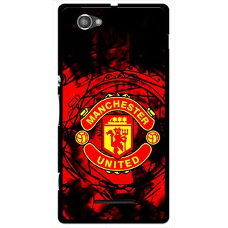 Snooky Printed Red United Mobile Back Cover For Sony Xperia M - Red
