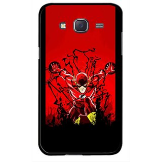 Snooky Printed Super Hero Mobile Back Cover For Samsung Galaxy J7 - Multicolour