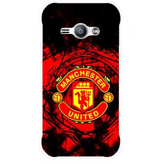 Snooky Printed Red United Mobile Back Cover For Samsung Galaxy Ace J1 - Red