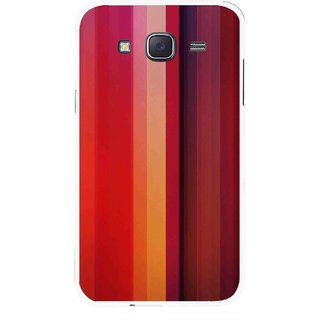 Snooky Printed Colorfull Stripes Mobile Back Cover For Samsung Galaxy J7 - Multi