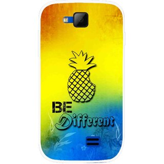 Snooky Printed Be Different Mobile Back Cover For Micromax Canvas Fun A63 - Multicolour