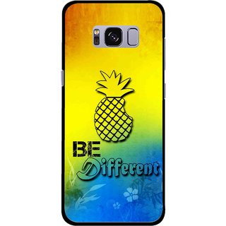Snooky Printed Be Different Mobile Back Cover For Samsung Galaxy S8 - Multicolour