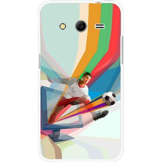 Snooky Printed Kick FootBall Mobile Back Cover For Samsung Galaxy G355 - Multicolour