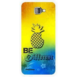 Snooky Printed Be Different Mobile Back Cover For Micromax Canvas Mad A94 - Multicolour