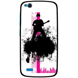Snooky Printed Music In Air Mobile Back Cover For Gionee Elife E3 - Multi