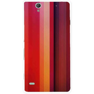 Snooky Printed Colorfull Stripes Mobile Back Cover For Sony Xperia C4 - Multi