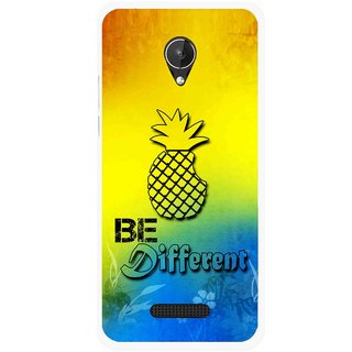 Snooky Printed Be Different Mobile Back Cover For Micromax Canvas Spark Q380 - Multicolour