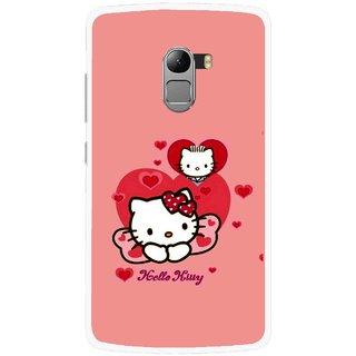 Snooky Printed Pinky Kitty Mobile Back Cover For Lenovo K4 Note - Pink
