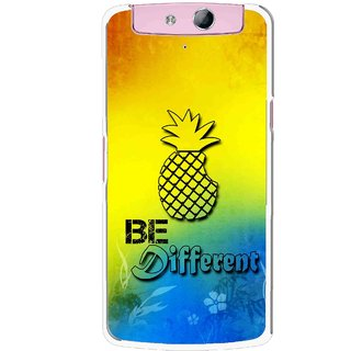 Snooky Printed Be Different Mobile Back Cover For Oppo N1 Mini - Multicolour