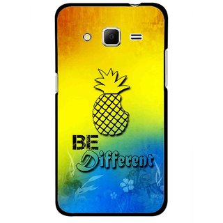 Snooky Printed Be Different Mobile Back Cover For Samsung Galaxy Core Prime - Multicolour