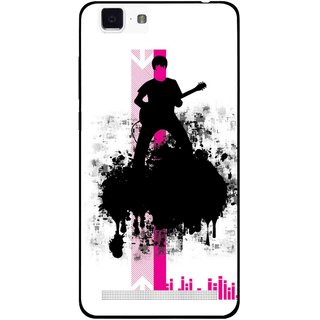 Snooky Printed Music In Air Mobile Back Cover For Vivo X5 Max - Multi