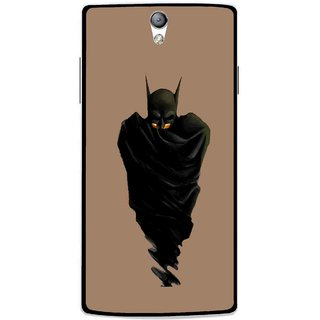 Snooky Printed Hiding Man Mobile Back Cover For Oppo Find 5 Mini - Brown