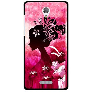 Snooky Printed Pink Lady Mobile Back Cover For Gionee Marathon M4 - Pink