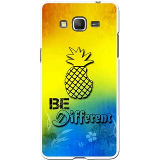 Snooky Printed Be Different Mobile Back Cover For Samsung Galaxy Grand Max - Multicolour