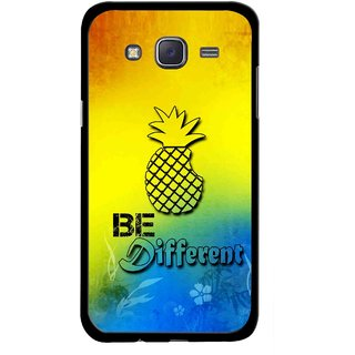 Snooky Printed Be Different Mobile Back Cover For Samsung Galaxy J5 - Multicolour