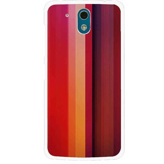 Snooky Printed Colorfull Stripes Mobile Back Cover For HTC Desire 326G - Multi