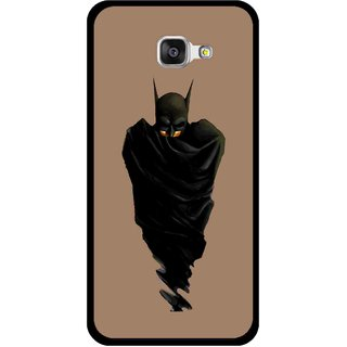 Snooky Printed Hiding Man Mobile Back Cover For Samsung Galaxy A3 (2016) - Brown