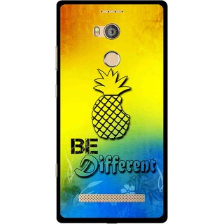 Snooky Printed Be Different Mobile Back Cover For Gionee Elife E8 - Multicolour