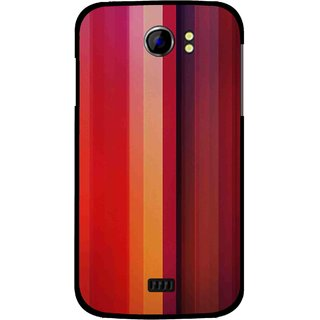 Snooky Printed Colorfull Stripes Mobile Back Cover For Micromax Canvas 2 A110 - Multi