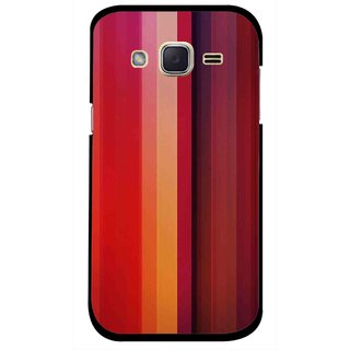 Snooky Printed Colorfull Stripes Mobile Back Cover For Samsung Galaxy j2 - Multi