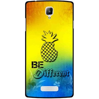 Snooky Printed Be Different Mobile Back Cover For Oppo Neo 3 R831k - Multicolour