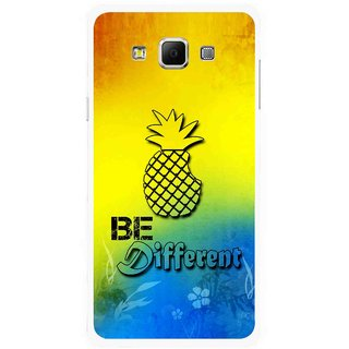 Snooky Printed Be Different Mobile Back Cover For Samsung Galaxy E5 - Multicolour
