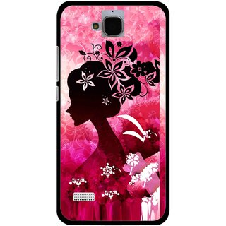 Snooky Printed Pink Lady Mobile Back Cover For Huawei Honor Holly - Pink