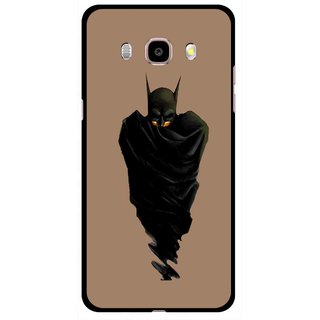 Snooky Printed Hiding Man Mobile Back Cover For Samsung Galaxy J5 (2017) - Brown