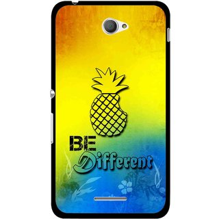 Snooky Printed Be Different Mobile Back Cover For Sony Xperia E4 - Multicolour
