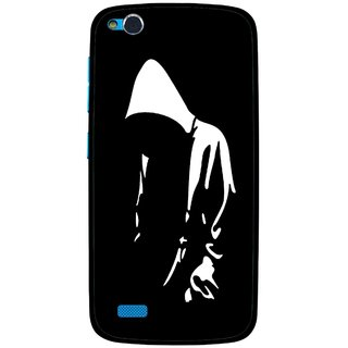 Snooky Printed Thinking Man Mobile Back Cover For Gionee Elife E3 - Multi