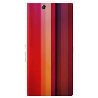 Snooky Printed Colorfull Stripes Mobile Back Cover For Sony Xperia Z Ultra - Multi
