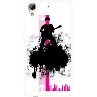 Snooky Printed Music In Air Mobile Back Cover For HTC Desire 626 - Multi