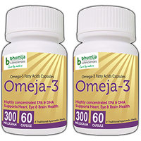 OMEGA3 (OMEJA3) FATTY ACIDS CAPSULES 60's (COMBO PACK OF TWO)