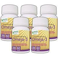 OMEJA-3 FATTY ACIDS CAPSULES 60's (COMBO PACK OF FIVE)