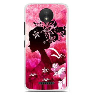newest collection e81c4 7d691 Snooky Printed Pink Lady Mobile Back Cover For Motorola Moto C Plus - Pink