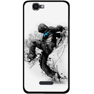 Snooky Printed Enjoying Life Mobile Back Cover For Micromax Canvas 2 A120 - Multi