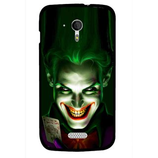Snooky Printed Loughing Joker Mobile Back Cover For Micromax A116 - Green