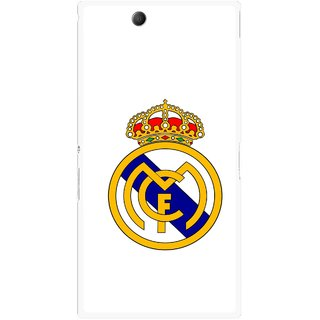 Snooky Printed Sports Logo Mobile Back Cover For Sony Xperia Z Ultra - White