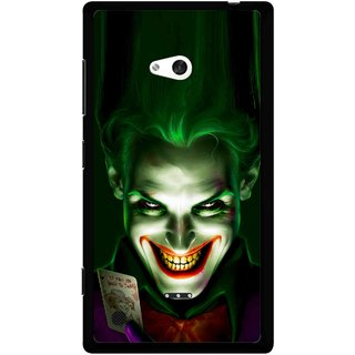 Snooky Printed Loughing Joker Mobile Back Cover For Nokia Lumia 720 - Green