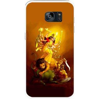 Snooky Printed Maa Durga Mobile Back Cover For Samsung Galaxy S7 - Multicolour