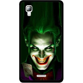 Snooky Printed Loughing Joker Mobile Back Cover For Micromax Canvas Doodle 3 A102 - Green