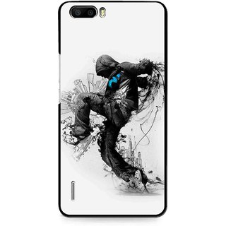 Snooky Printed Enjoying Life Mobile Back Cover For Huawei Honor 6 Plus - Multi