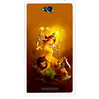 Snooky Printed Maa Durga Mobile Back Cover For Sony Xperia C - Multicolour