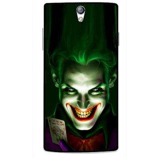 Snooky Printed Loughing Joker Mobile Back Cover For Oppo Find 5 Mini - Green