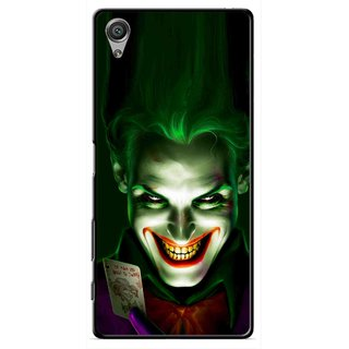 Snooky Printed Loughing Joker Mobile Back Cover For Sony Xperia X - Green