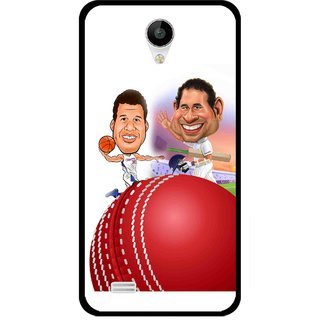 Snooky Printed Play Cricket Mobile Back Cover For Vivo Y22 - Multicolour