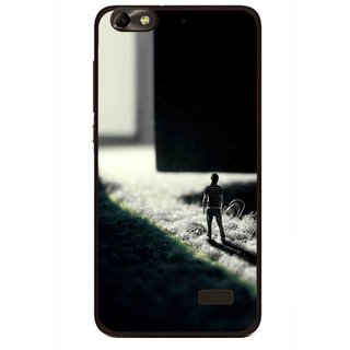 Snooky Printed God Door Mobile Back Cover For Huawei Honor 4C - Multi