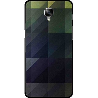 Snooky Printed Geomatric Shades Mobile Back Cover For OnePlus 3 - Multi